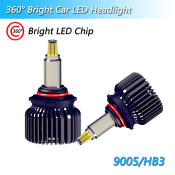 2019 New Real 3D 360 Degree H1 H3 cars LED Headlight Bulbs Super bright H7 LED lamps All-in-One Conversion kit  6000k with turbo