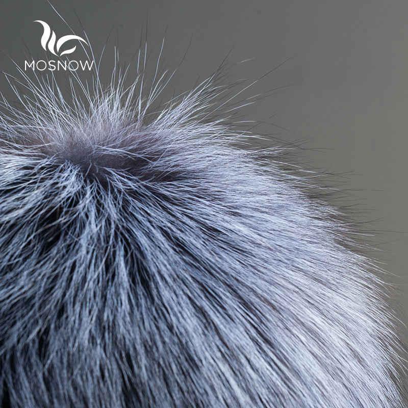 New Russo Chapéu Feito Malha Chapéus de Inverno Para As Mulheres do Sexo Feminino De Pele de Coelho Rex Com Pele de Raposa Pompons Tarja Luxo Skullies Gorros