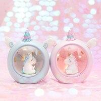 Единорог светодиодный ночник для детей, детская прикроватная лампа, детская игрушка, животное, украшение для спальни, освещение, подарок на ...