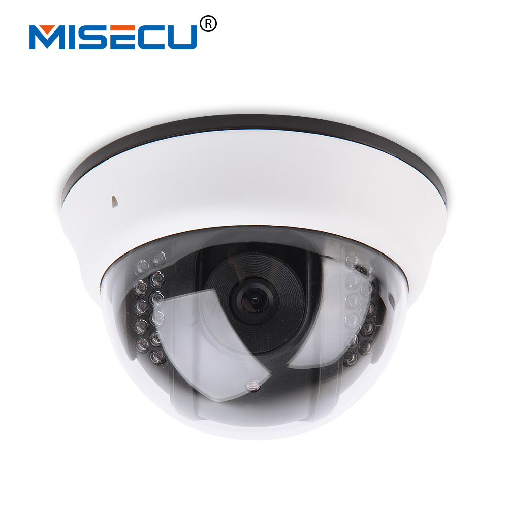 MISECU 2.8mm New ONVIF Dome 720P HD Wireless IP Camera wifi indoor P2P Night Vision email alert 1280*720P IP Camera ,free psu wifi ipc 720p 1280 720p household camera onvif with allbrand camera free shipping