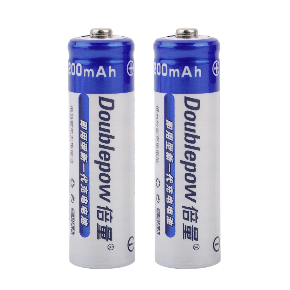 2pcs set doublepow aa 1200mah 1 2v ni cd rechargeable battery large capacity in rechargeable. Black Bedroom Furniture Sets. Home Design Ideas
