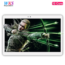 Free shipping 10 inch tablet PC 10 Core Android 7.0 4GB RAM 64GBROM Dual SIM Cards 1920x1200 IPS GPS Bluetooth tablets 10 10.1