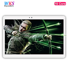 Free shipping 10 inch tablet PC 10 Core Android 7.0 4GB RAM 64GBROM Dual SIM Cards 1920x1200 IPS GPS Bluetooth tablets 10 10.1(China)
