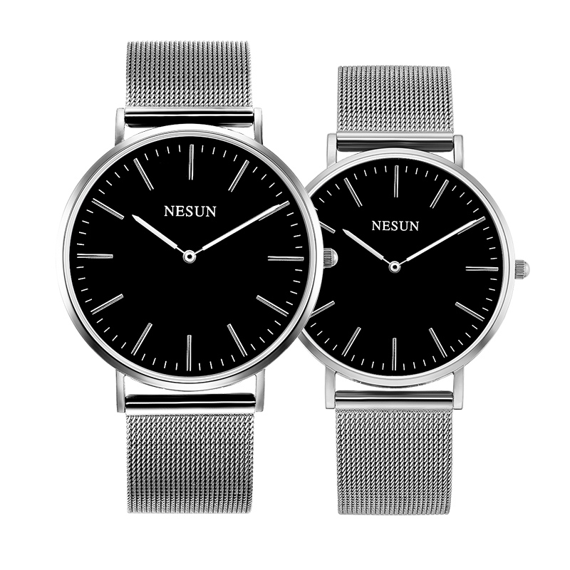 Switzerland Nesun Watch Men & Women Luxury Brand Japan MIYOTA Quartz Movement Lover's Watches Sapphire Waterproof Clock N8801-L2