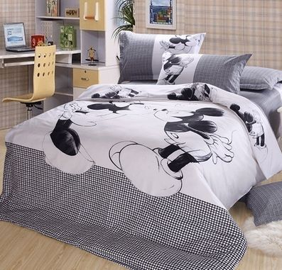 Luxury Mickey Minnie Mouse 4pc Bedding Sets Fullqueenking