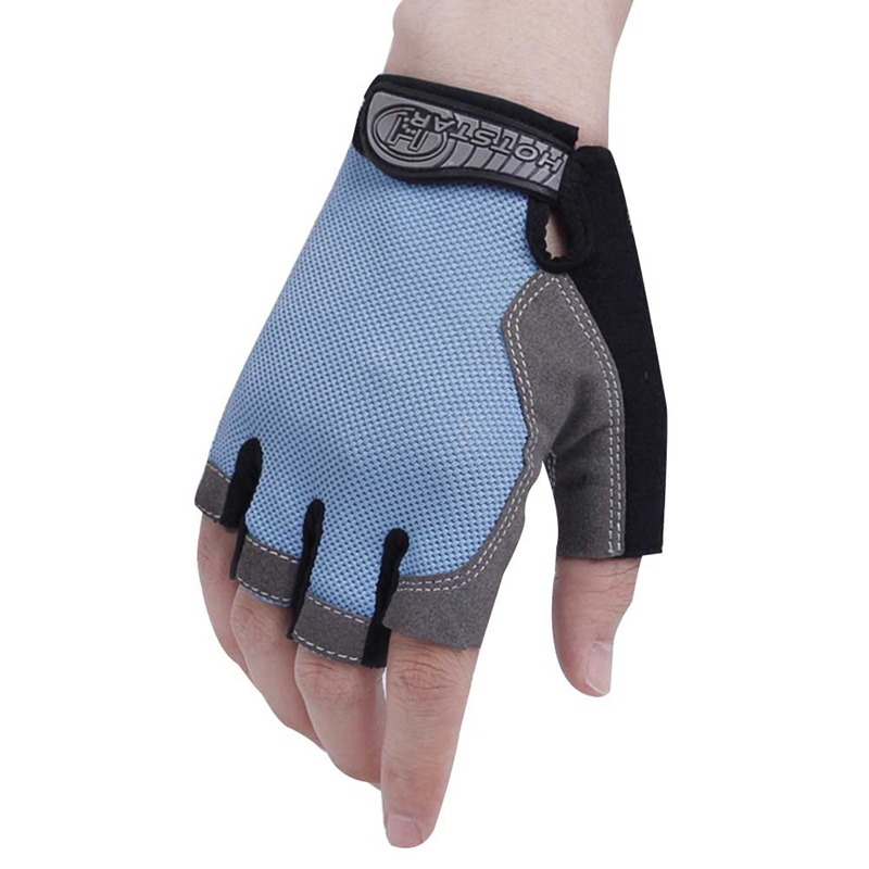 Hompo Ladies Gloves Bodybuilding Fitness Weight Lifting: Outdoor Sports Half Finger Gloves Men Women Gym Fitness