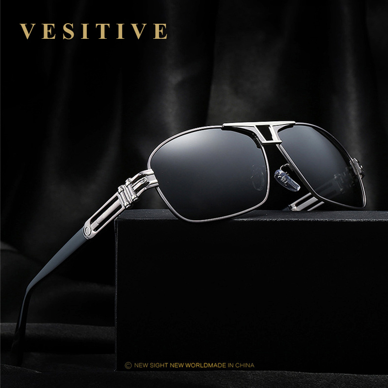 VESITIVE Polarisées lunettes de Soleil Super Cool Militaire Lunettes Pour Conduite Hommes Carré Anti Éblouissement lunettes de Soleil Marque Designer UV400