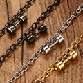 2016 New 20CM stainless steel dumbbell popular unisex bracelet trend jewelry BR-318