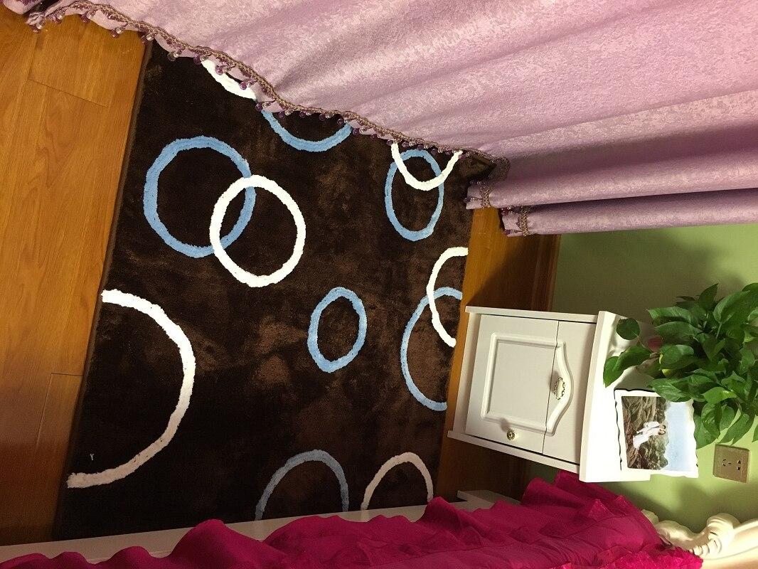 Tapis de sol carré fait à la main pour chambre tapis de décoration orientale antidérapant avec support en caoutchouc