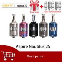 Free gift Aspire Nautilus 2s tank 2.6ml/2ml Vaporizer Atomizer Top filling Nautilus 2s MTL tank Nautilus bvc coils vs nautilus 2