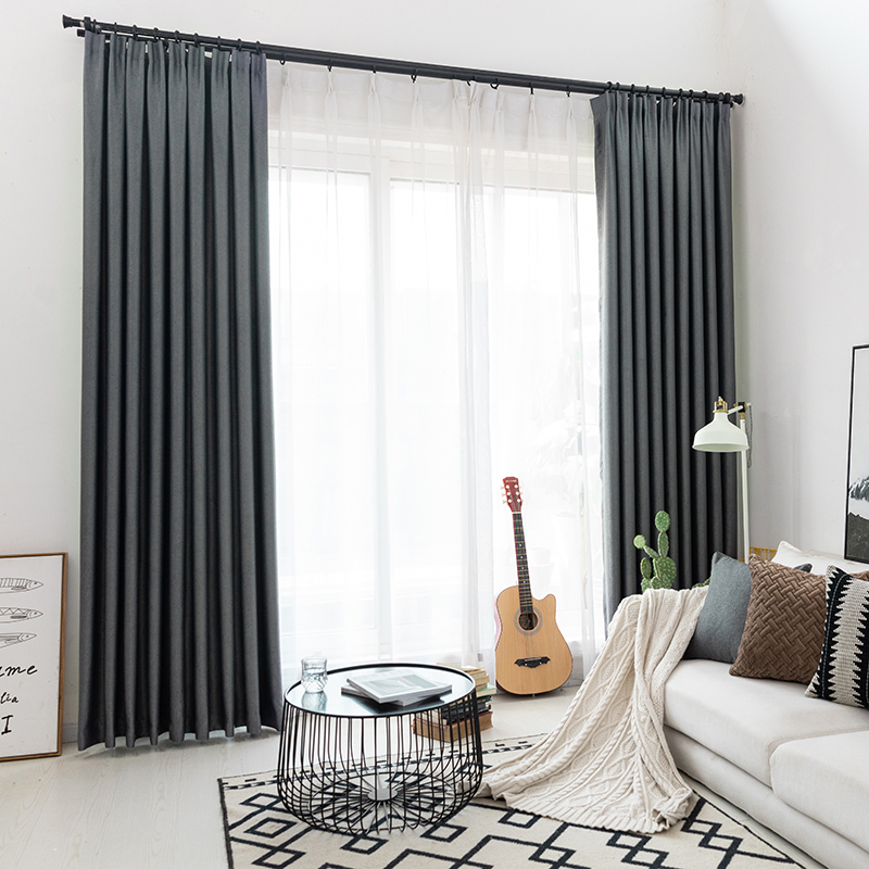 US $14.22 39% OFF|CITYINCITY Modern blackout curtains for window blinds  finished drapes window blackout curtain for living room the bedroom  blinds-in ...