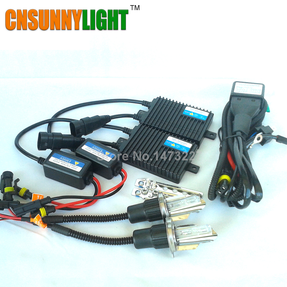 cnsunnylight 55w hid xenon conversion kit h4 hi lo h4 3 12v55w high quality ac for car headlight. Black Bedroom Furniture Sets. Home Design Ideas