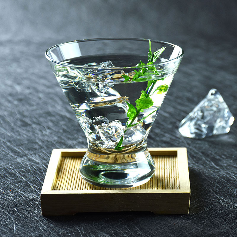 Amerikanischen flut marke glas tasse cocktail transparent kleine tasse eisbecher dessert tasse martini-glas bloody Mary weingläser