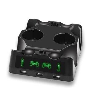 Image 3 - Светодиодный джойстик PS4 Move VR PSVR, зарядное устройство с подставкой, зарядная док станция для PS VR Move PS 4 Dualshock 4/Slim/Pro, геймпад