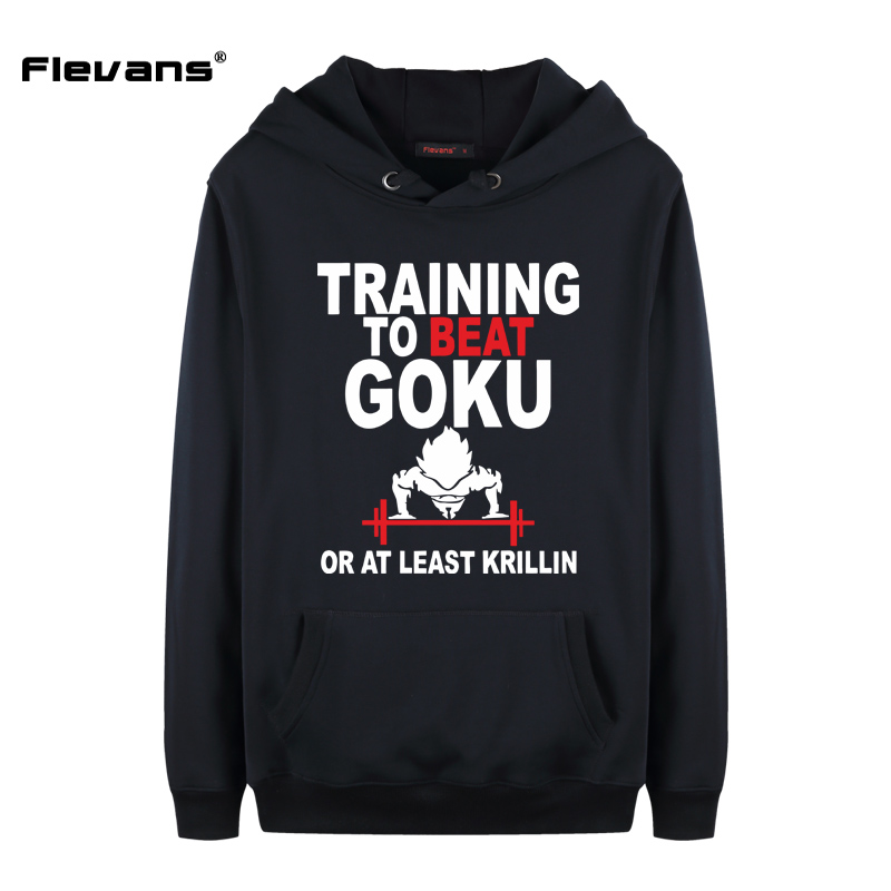 Flevans New Men Casual Hoodie Sweatshirt Tracksuits Dragon Ball To Beat Goku Printed Long Sleeve Men Adult Hoodies