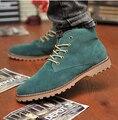 Nuevo 2014 de primavera e invierno de los hombres botas de montaña martin botas de Inglaterra estilo de algodón acolchado hombres calientes del alto-top zapatos ocasionales de los hombres