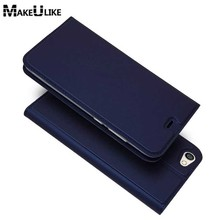 hot deal buy makeulike slim magnetic case for xiaomi redmi note 5a flip cover pu leather mobile phone bags cases for redmi note 5a