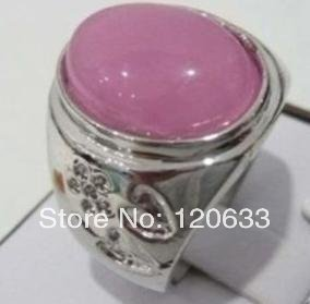 vintage men's Natural Tibet Silver pink ring R.23 Size 8-11# rings Silver rings for women sterling-silver-jewelry