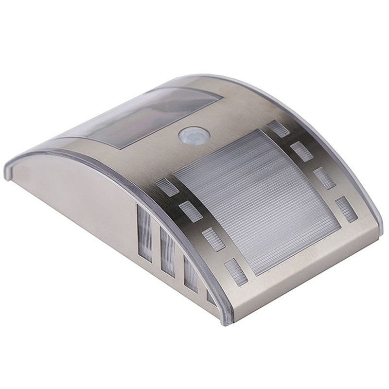 solar power motion sensor light outdoor security lamp for patio deck