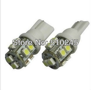 100X w5w 194 T10 10 led smd 3528 Wedge Car Auto LED Light Bulb Lamp White blue yellow green red free shipping