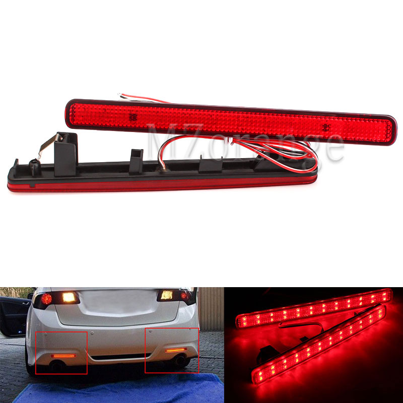 Tail Stop Brake Light Rear Bumper Reflector LED For Acura