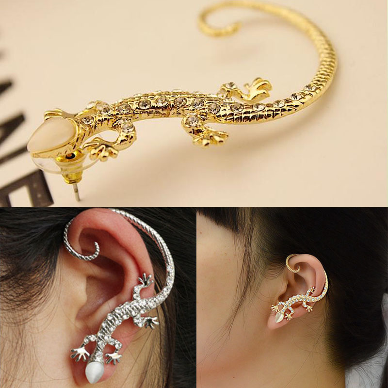 Hot 1 Pc Women Girl New Elegant Charming Exaggerated Lizard Design Ear Cuff Earrings Jewelry Gift