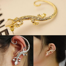 Hot 1 Pc Women Girl New Elegant Charming Exaggerated Lizard Design Ear Cuff Earrings Jewelry Gift