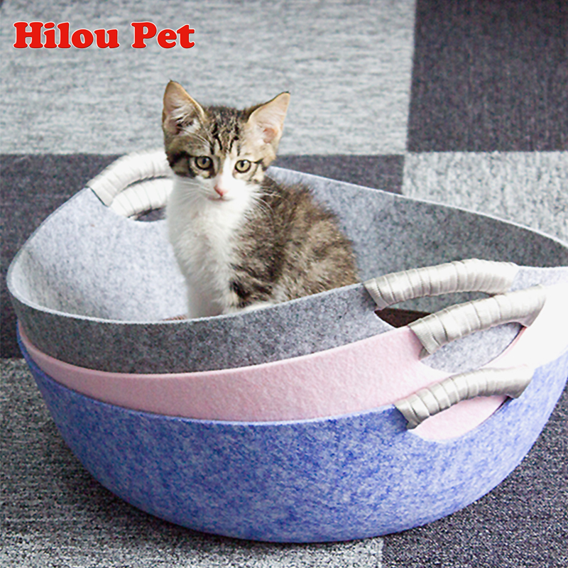 Admirable Us 18 96 Cat Bed New Arrive Creative Solid Felt Pan Style Cat House Hand Wash Machine Wash Breathable Sleeping Bag For Cat Pet Supplies In Cat Beds Home Interior And Landscaping Synyenasavecom