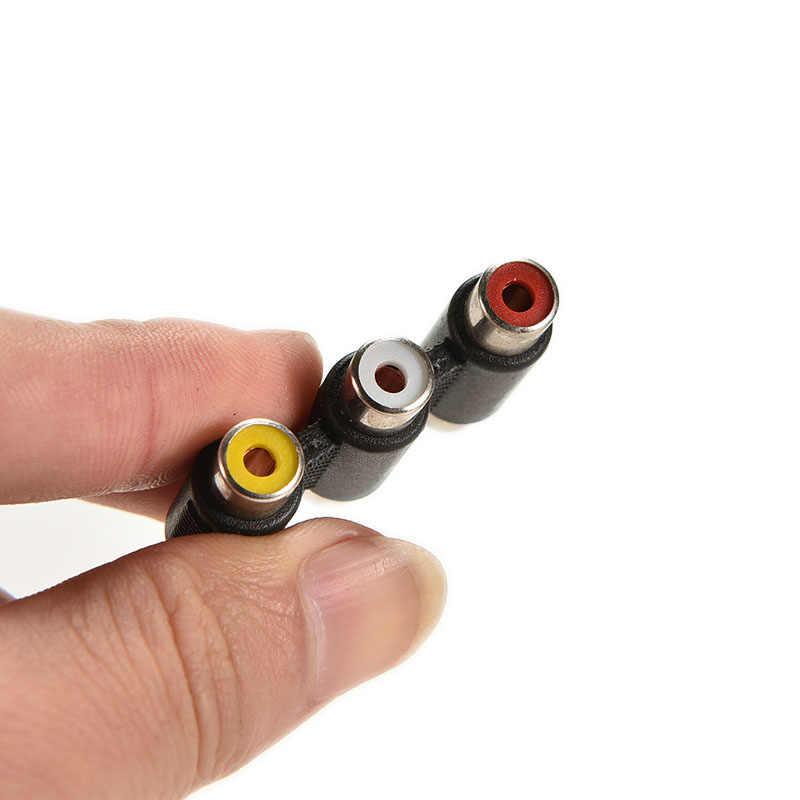 1 قطعة الصوت والفيديو موصل 3 RCA AV مقرنة صغيرة 3RCA أنثى إلى شاحن أنثي الأحمر/الأبيض/الأصفر تمديد محول