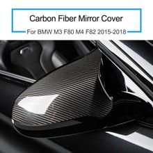 1 Paar Voor Bmw M3 F80 M4 F82 2015 2018 Carbon Fiber Spiegel Cover Auto Accessoires Praktische Handig Installatie