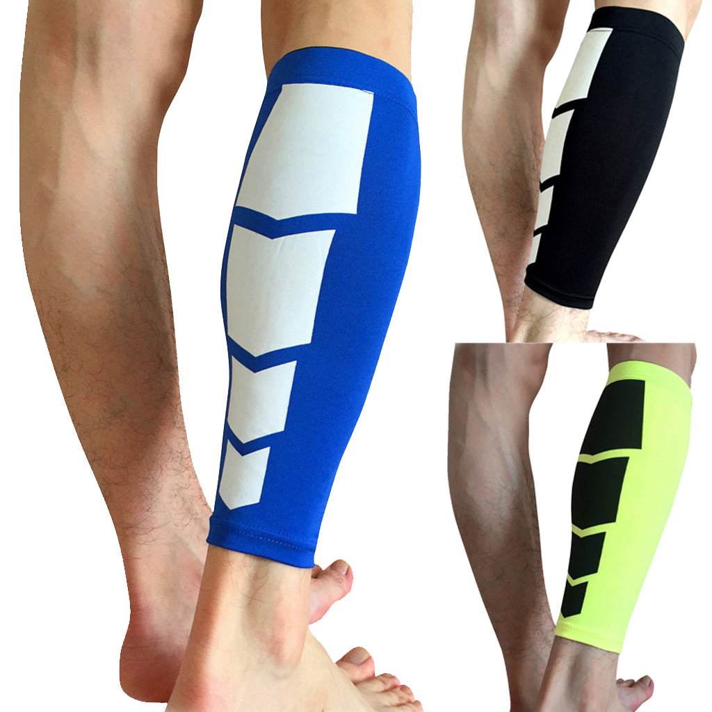 Exercise Sportsware Elastic Compression Leg Calf Wrap Supporter Running Sleeve Brace Men Women Soccer Football Safety Accessory