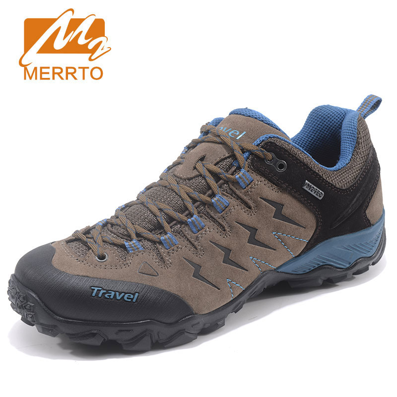 MERRTO New Trend Autumn Winter Hiking Shoes Breathable Outdoor Waterproof Hunting Antiskid Tourism Sneakers Genuine Leather Shoe