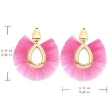 Black Crystal Flower Fringe Earings Earing Geometric Long Dangle Tassel Earrings For Women 2018 Fashion Jewelry Oorbellen Gift
