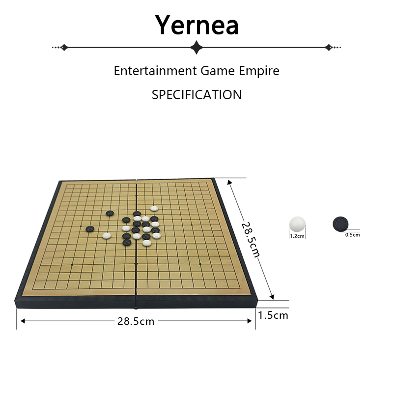 New Chess Children Teaching Puzzle Game Of Go For Go board Of Weiqi Folding Magnetic Chess Board Backgammon Gift Go Game Yernea in Chess Sets from Sports Entertainment