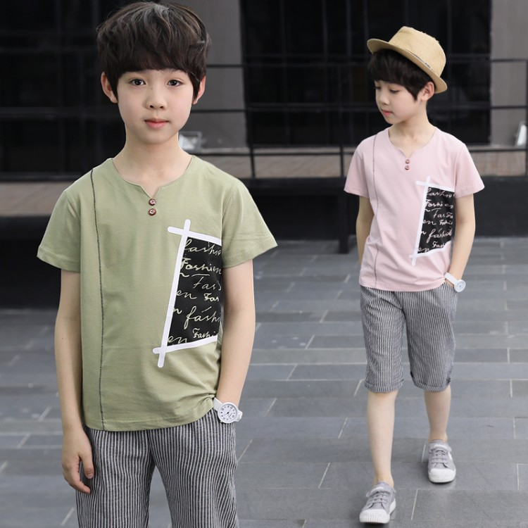 Hot sale Summer Kids Clothes Sets Chidren T-Shirt+Short Pants 2PCS Boys Sport Suit Kids Hight Quality Clothing Size:5-13 years