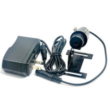 лучшая цена 22mm Focusable 150mW 850nm Infrared IR Laser Module Adjustable Focus Dot Head w AC Adapter & Holder