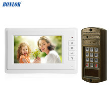 1Set Hot sale Smart home door bell 7 inch LCD monitor wire V