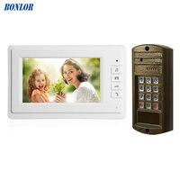 1Set Hot sale Smart home door bell 7 inch LCD monitor wire Video door phone security alarm Door access intercom system talk back