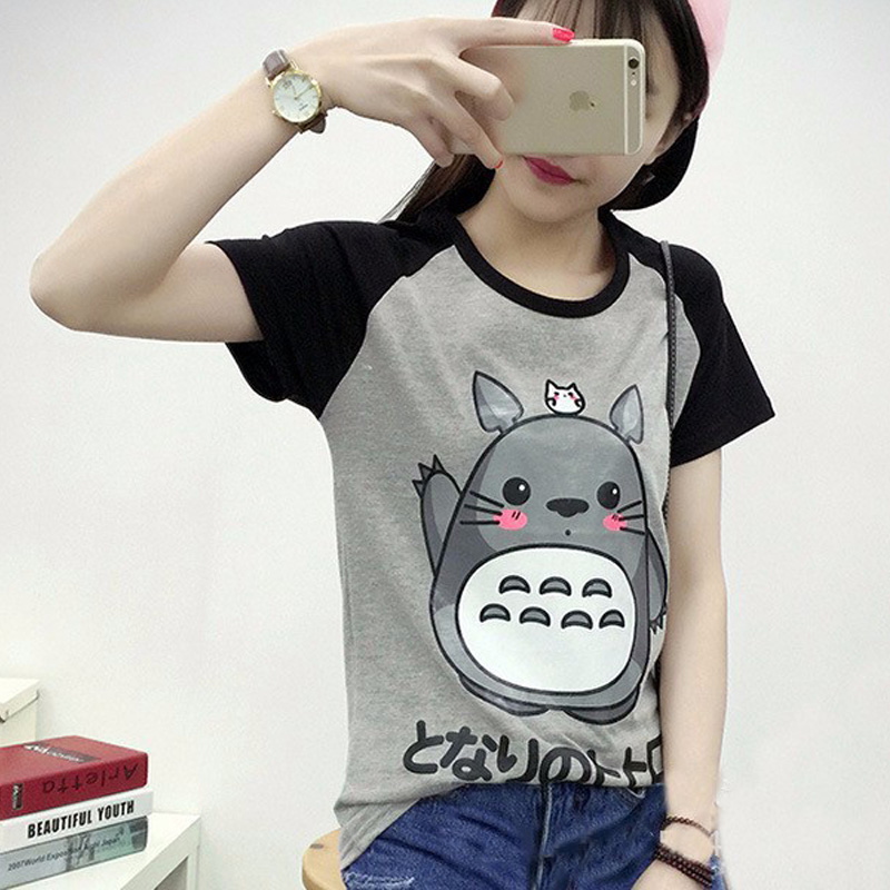 2017 Spring Summer Cute Totoro T Shirt Women Short Sleeve ...