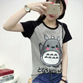 2017 Spring Summer Cute Totoro T Shirt Women Short Sleeve T-shirts Women Plus Size Graphic Tee Shirt Femme Japanese anime Tshirt