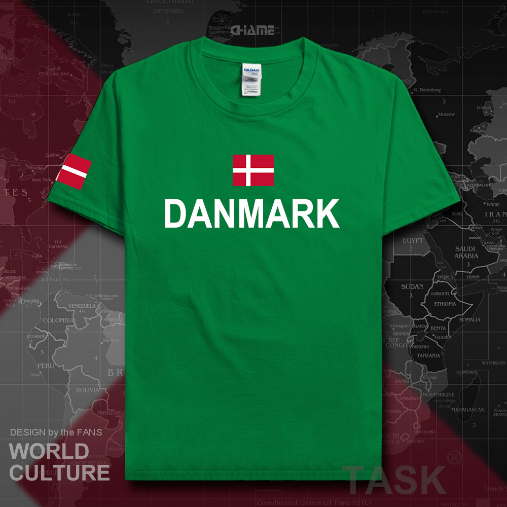 Denmark Danish Men T Shirts Fashion 2017 Jerseys Nation Tshirt 100% Cotton T-shirt Meeting Clothing Tees Country Danmark DK DNK