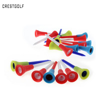 70mmX 50 Pcs/bag Multi Color Plastic Golf Tees 70mm Durable Rubber Cushion Top Golf Tee Golf Accessories