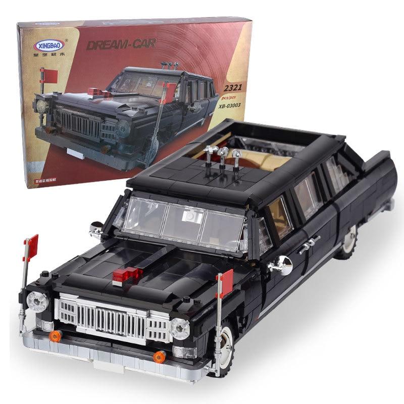 все цены на XingBao 03003 Block 2327Pcs Genuine Creative MOC Technic Series The HongQi Master Car Set Building Blocks Bricks Toys Model онлайн