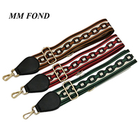 MM FOND Gold Silver Black Clasp For Choice Lady Fabric Handbag Strap Easy Matching Girls Adjustable