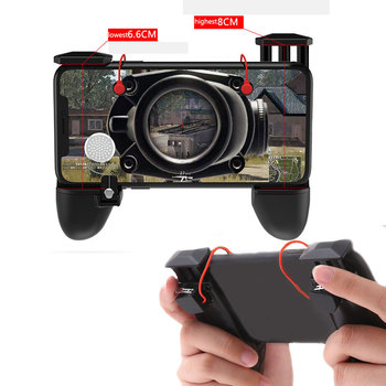 3 in 1 PUBG Game Shooter Trigger Fire Button Aim Key Mobile phone Gaming Handle Controller R1 L1 Gampads Handle Controller