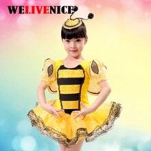 90 cm - 150 cm Lányok Jelmez Kids Kids Ruhák Jelmez Anime Cosplay Dress Egyéni elfoglalt méh Go jelmezek Headdress # 7141