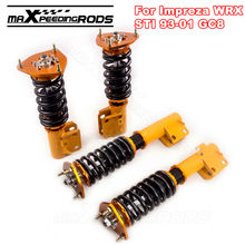 Coilovers For Subaru Impreza WRX GC8 93-01 Adjustable Height + Camber Plate Absorber Coils Struts Suspension Spring Front & Rear
