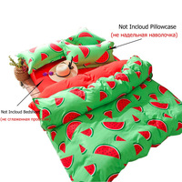 New Nordic Watermelon/Cloud Cute 1PC Duvet Cover Bedding Polyester Green and Red Quilt Cover Kids/Women Room Bed Sack