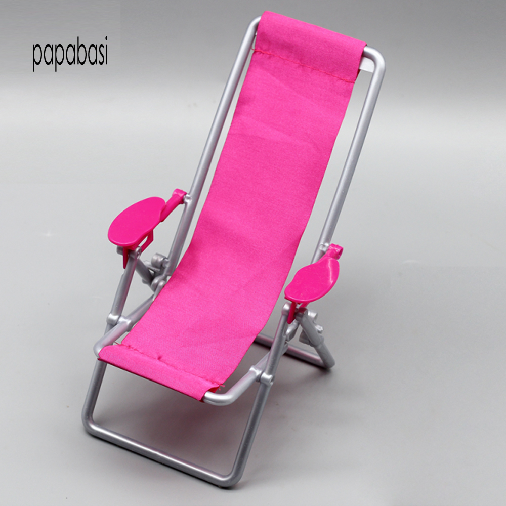 1Pc Furniture Fold Beach Chair Lounge For Barbie Doll Princess Dreamhouse  Accessories As For 1/6 BJD Dolls Children New Gifts In Dolls Accessories  From Toys ...