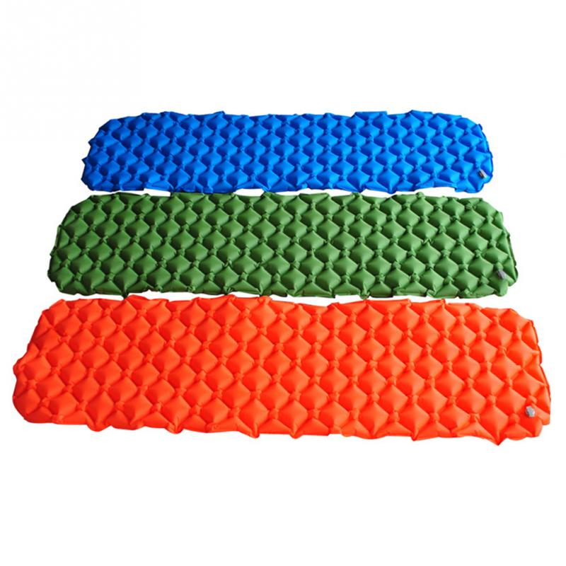 Air Mattress Inflatable Bed for Tent Portable Ultralight Sleeping Pad Air Bed Moistureproof Pad Waterproof Outdoor Camping Mat цена 2017